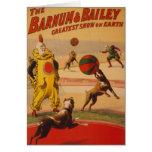 Barnum y Bailey - perros maravillosos del fútbol Tarjeta De Felicitación