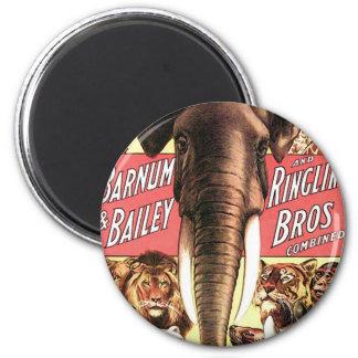 Barnum y Bailey y Ringling Bros combinado - Eleph Imán Redondo 5 Cm