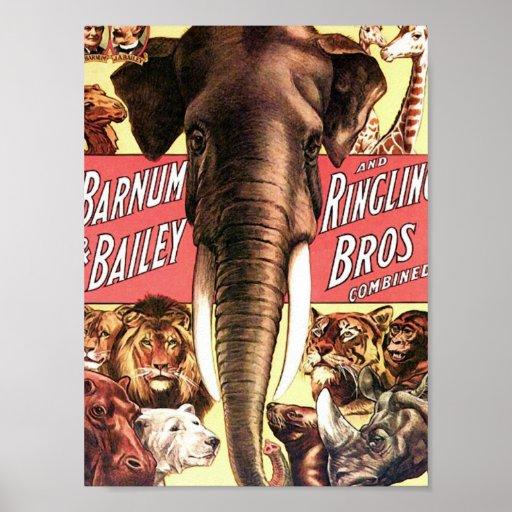Barnum y Bailey y Ringling Bros combinado - Eleph Impresiones