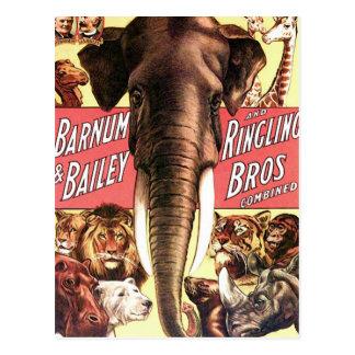 Barnum y Bailey y Ringling Bros combinado - Eleph Postal