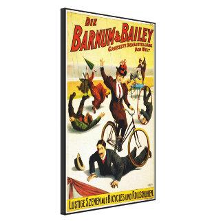 Barnum y circo de Bailey - circa 1900 - en alemán Impresiones En Lienzo Estiradas