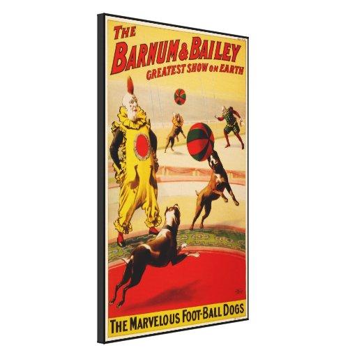 Barnum y circo de Bailey - circa 1900 Impresión En Lienzo