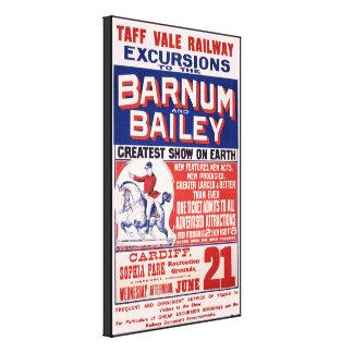 Barnum y circo de Bailey - circa 1900 Impresión En Lienzo Estirada