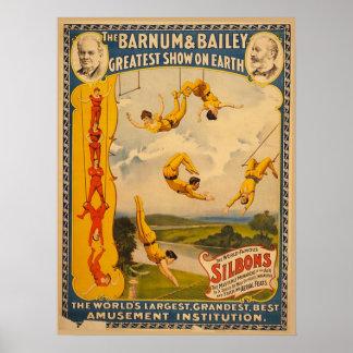 Barnum y circo de Bailey - circa 1900 Poster