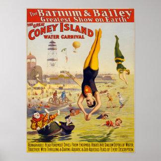 Barnum y circo de Bailey - circa 1900 Póster