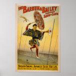 Barnum y diapositiva del japonés de Bailey para la Posters