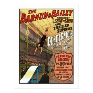 Barnum y el salto del forajido de Bailey para la Postal