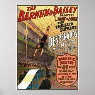 Barnum y el salto del forajido de Bailey para la v Poster