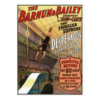 Barnum y el salto del forajido de Bailey para la v Postales