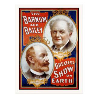 Barnum y la demostración más grande de Bailey en Tarjetas Postales