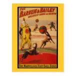 Barnum y perros del fútbol del circo de Bailey Postales