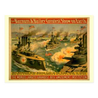 Barnum y poster del circo de Bailey Postal