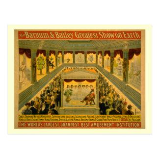 Barnum y poster del circo de Bailey Postales