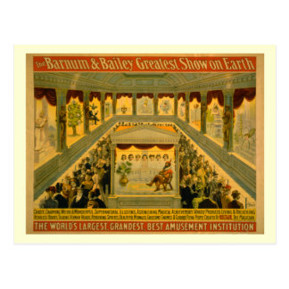 Barnum y poster del circo de Bailey Tarjeta Postal