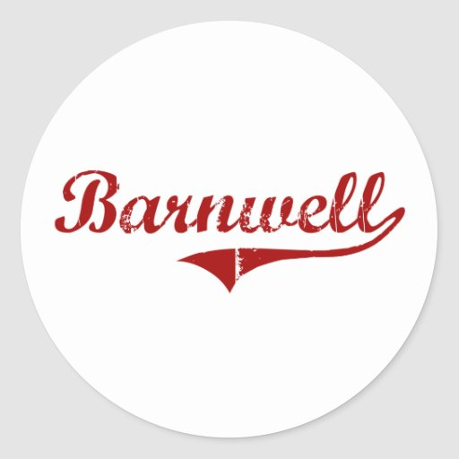 Barnwell South Carolina Classic Design Round Stickers