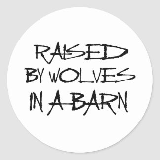 Barnwolves Classic Round Sticker