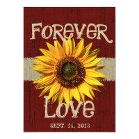 Barnwood and Burlap Sunflower Wedding Personalized Invite (<em>$3.25</em>)