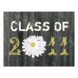 Barnwood and Daisy Graduation Class Of 2011 Invites