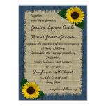 Barnwood and Sunflower Wedding Card