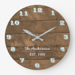 Barnwood Aqua Personalized Clock