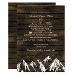 Barnwood Camping Rustic Mountains Wedding Card at Zazzle