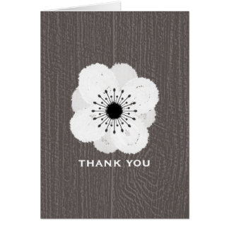 Barnwood Inspired French Anemone Thank You Card