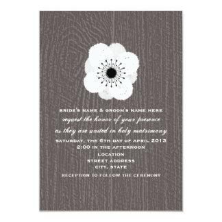 Barnwood Inspired French Anemone Wedding Invite