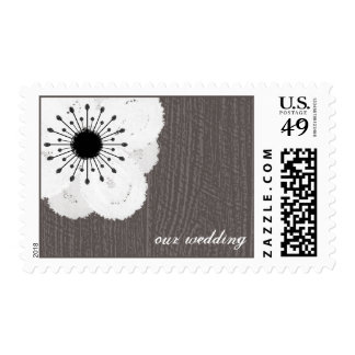 Barnwood Inspired French Anemone Wedding Postage