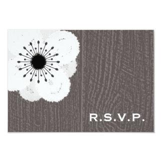 "Barnwood inspiró la anémona francesa RSVP Invitación 3.5"" X 5"""