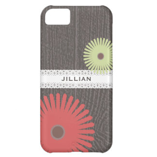 Barnwood & Lace Inspired Floral iPhone 5 Case