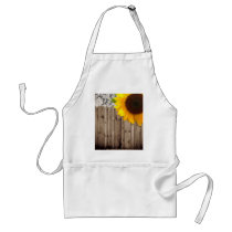 barnwood lace rustic western country sunflower adult apron