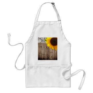 Barnwood lace sunflower country fashion adult apron