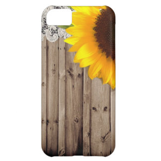 Barnwood lace sunflower country fashion case for iPhone 5C