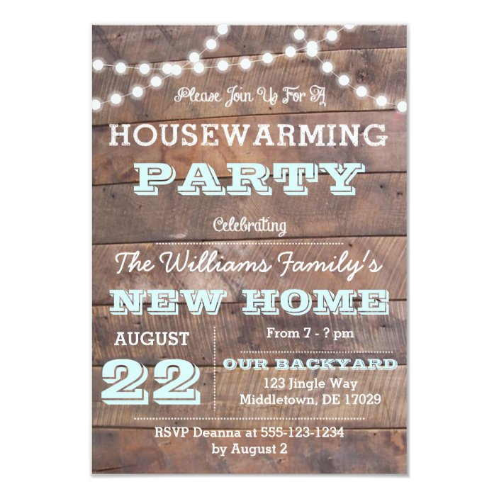 Barnwood Lights Aqua Housewarming