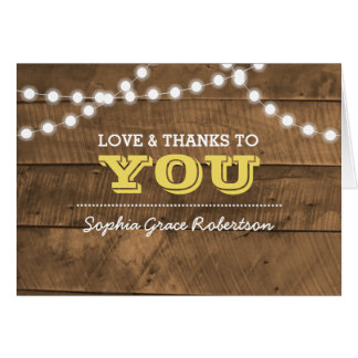 Barnwood Lights Gold Confirmation Thank You Note Card