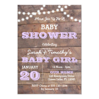 Barnwood Lights Lavender All Occasion Invitation