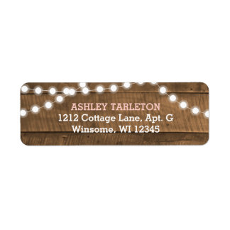 Barnwood Lights Pink Label