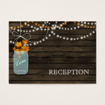 Barnwood Rustic fall mason jars reception invite