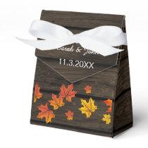 Barnwood Rustic Fall wedding favor box
