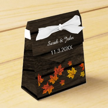 Barnwood Rustic Fall wedding favor box
