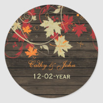Barnwood Rustic ,fall wedding favor stickers