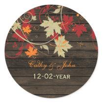 Barnwood Rustic ,fall wedding favor stickers