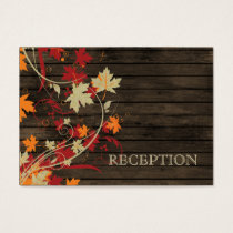 Barnwood Rustic ,fall  wedding reception invite