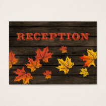 Barnwood Rustic Fall wedding reception invite