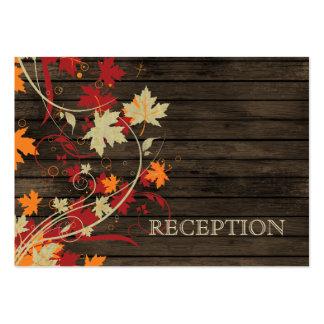 Barnwood Rustic ,fall  wedding reception invite Large Business Card
