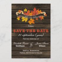 Barnwood Rustic Fall wedding save the date