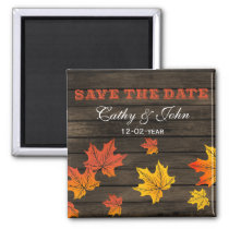Barnwood Rustic Fall wedding save the Date Magnet