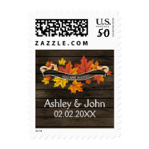 Barnwood Rustic Fall Wedding stamps