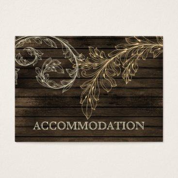 Barnwood Rustic flourish accommodation cards
