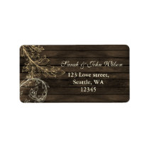 barnwood rustic flourish address labels